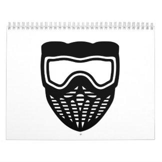 Paintball mask calendar