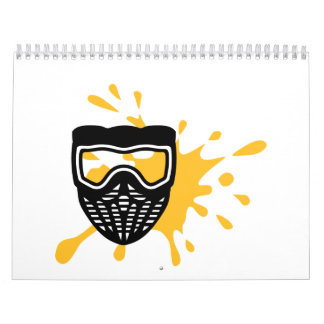 Paintball mask color calendar