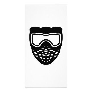 Paintball mask photo card