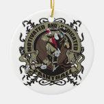 Paintball motivado adorno navideño redondo de cerámica