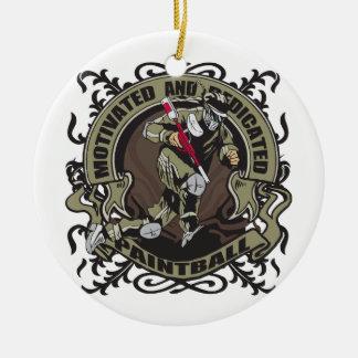 Paintball motivado adorno de navidad