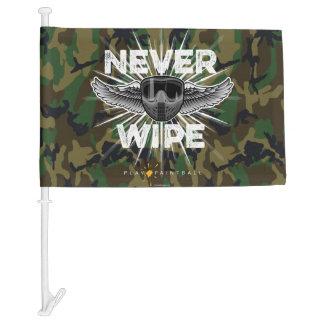 Paintball Never Wipe (camo) Car Flag