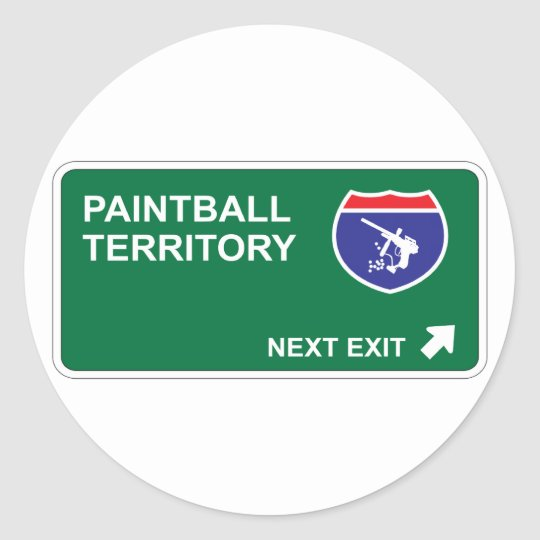 Paintball Next Exit Classic Round Sticker