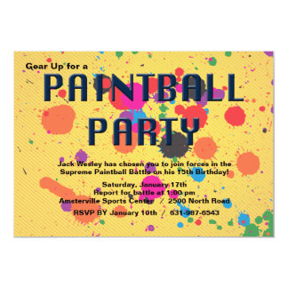 Paintball Party Invitation