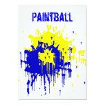 "Paintball Party Invitation 5"" X 7"" Invitation Card"