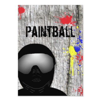 Paintball Party Invitation (Design 2)