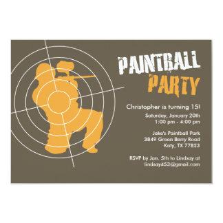 "Paintball Party Invitations 5"" X 7"" Invitation Card"
