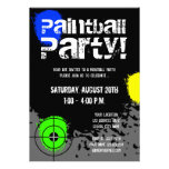 Paintball party invitations   Custom invites