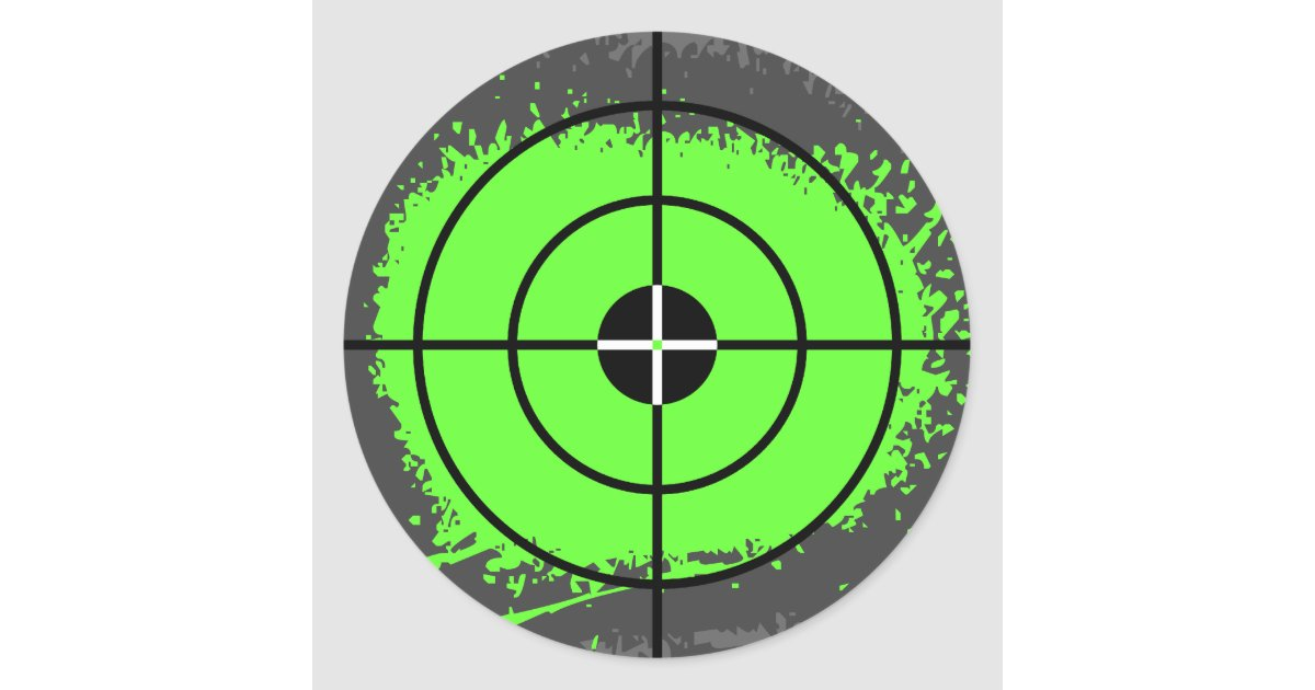 Paintball party stickers | paint splatter target | Zazzle.com