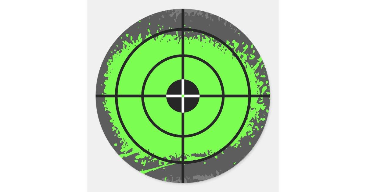 Paintball Party Stickers Paint Splatter Target Zazzle Com