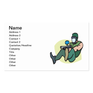 Paintball Player Double-Sided Standard Business Cards (Pack Of 100)