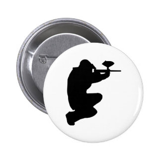Paintball player pinback button
