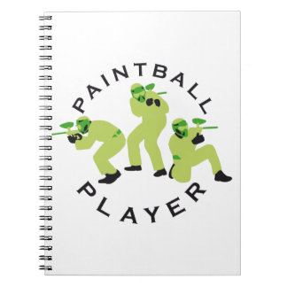 paintball players spiral notebook