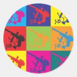 Paintball Pop Art Classic Round Sticker
