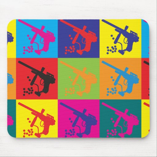 Paintball Pop Art Mouse Pad