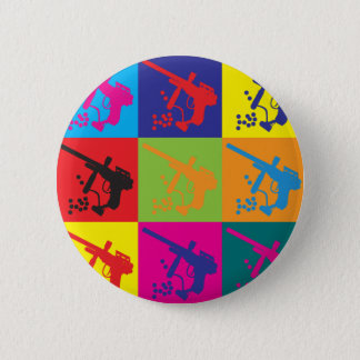 Paintball Pop Art Pinback Button