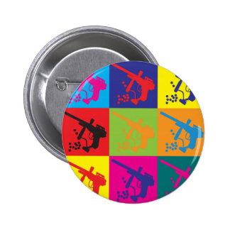 Paintball Pop Art Pinback Button