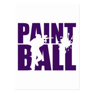 Paintball Postcard