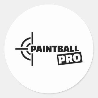 Paintball Pro crosshairs Round Sticker