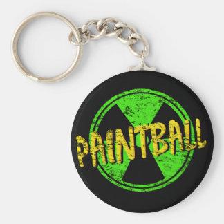 Paintball Radioactive Basic Round Button Keychain