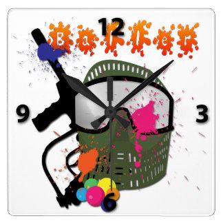 Paintball - reloj de pared de Baller