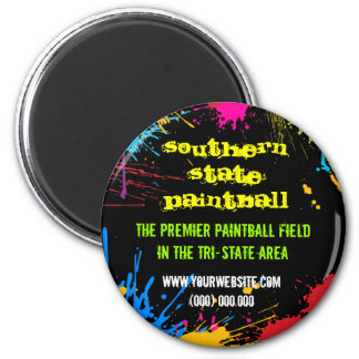 Paintball Round Business Magnet