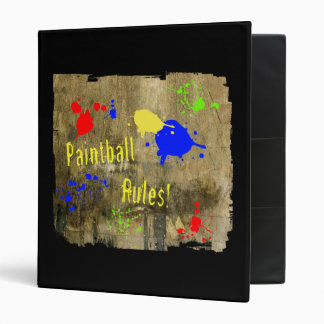 Paintball Rules on a Grunge Wall Binder