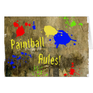 Paintball Rules on a Grunge Wall Greeting Card