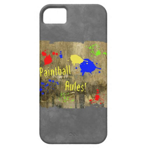 Paintball Rules on a Grunge Wall iPhone 5 Covers