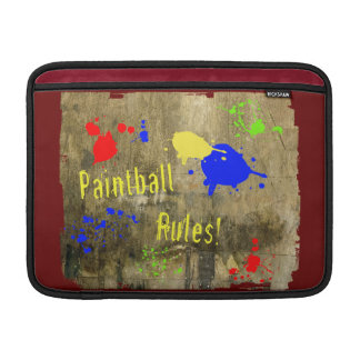 Paintball Rules on a Grunge Wall MacBook Air Sleeves