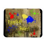 Paintball Rules on a Grunge Wall Magnet