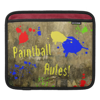 Paintball Rules on a Grunge Wall Sleeves For iPads