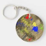 Paintball Rules Text Single-Sided Round Acrylic Keychain