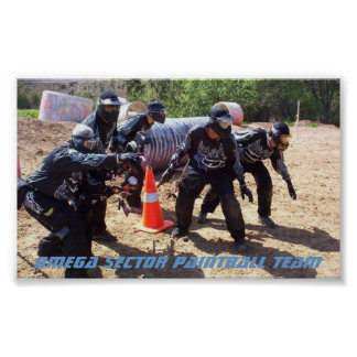 Paintball: Sector de Omega del equipo Póster
