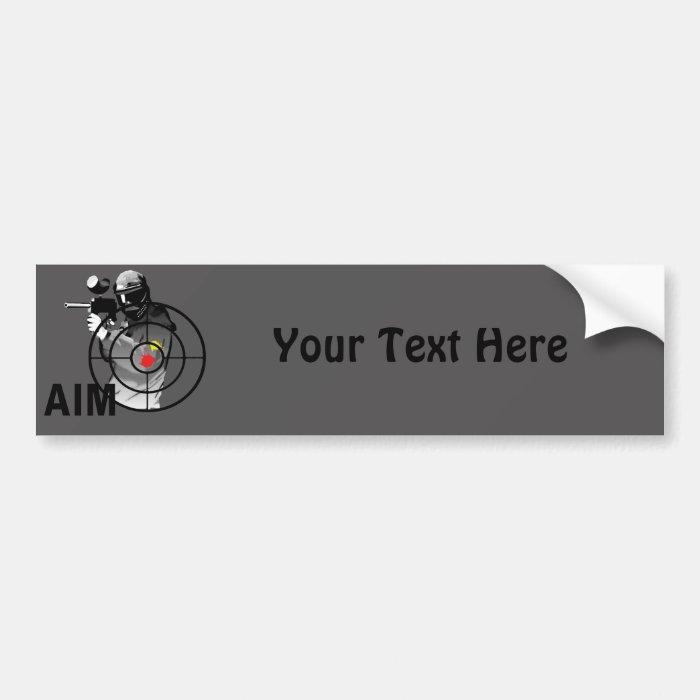 Paintball Shooter - Aim Bumper Sticker