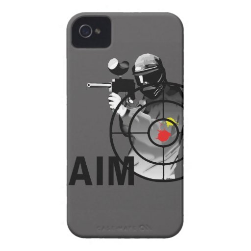 Paintball Shooter - Aim Case-Mate iPhone 4 Case