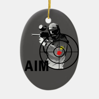 Paintball Shooter - Aim Ceramic Ornament