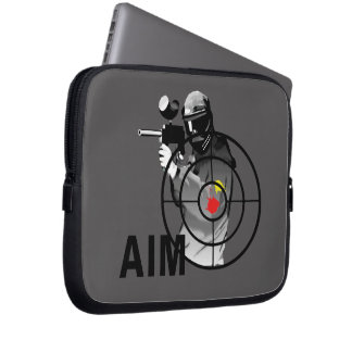 Paintball Shooter Aim Computer Sleeves