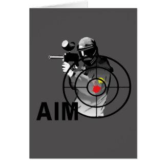 Paintball Shooter - Aim Greeting Card