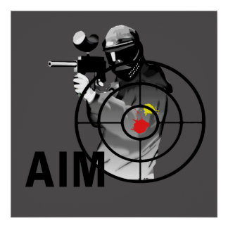 Paintball Shooter - Aim Poster