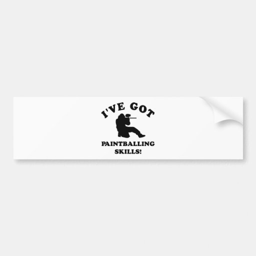 paintball skill gift items bumper stickers