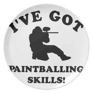 paintball skill gift items plate