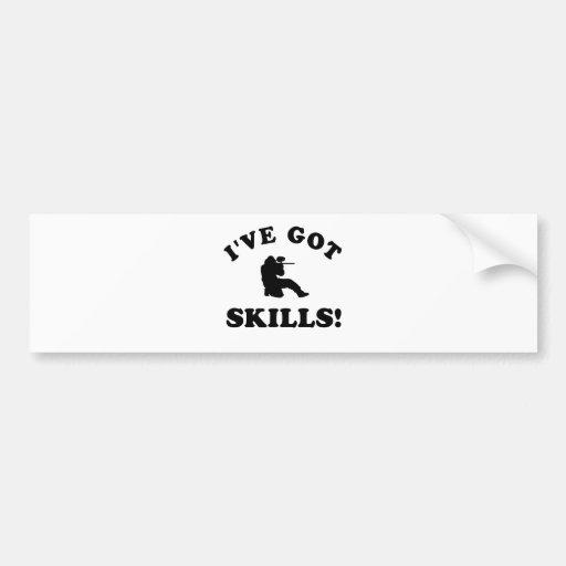 paintball skills Vector Designs Bumper Sticker