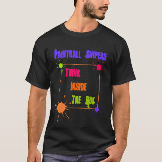 PAINTBALL SNIPER THINK INSIDE THE BOX T-SHIRT