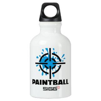 Paintball splash crosshairs aluminum water bottle