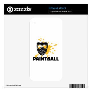 Paintball splash mask iPhone 4S skin