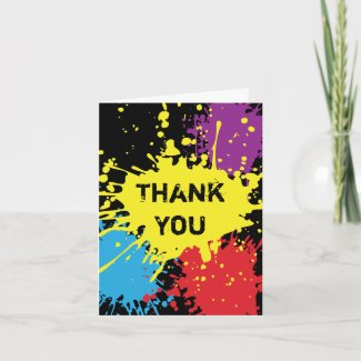 Paintball Splat Thank You Card