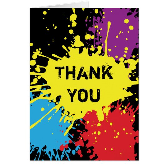 Paintball Splat Thank You Card