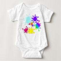 Paintball Splats Baby Bodysuit