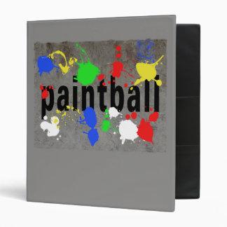 Paintball Splatter on Concrete Wall 3 Ring Binder